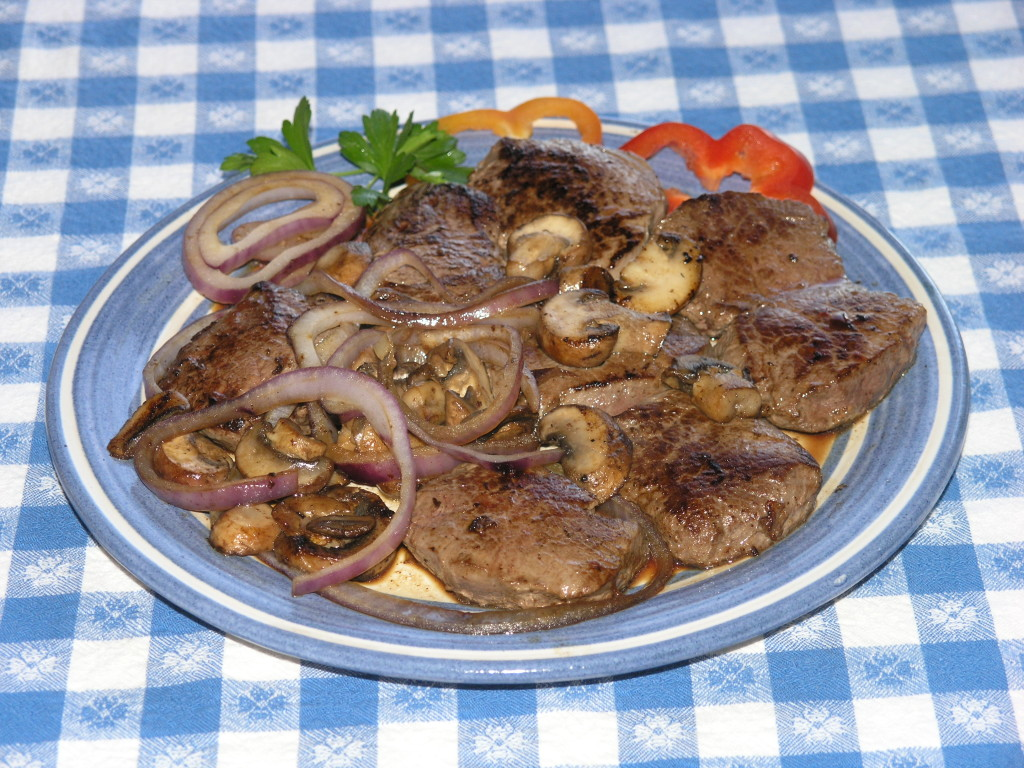 Backstrap with Onions, copyright Al Cambronne